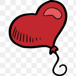 Hand-drawn Balloons - Heart Valentine's Day Computer Icons Clip Art PNG