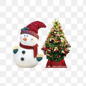 Snowman Christmas Tree - Christmas Tree Snowman Santa Claus Wallpaper PNG