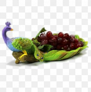 Peacock Dish - Table Fruit Gift Basket Gift Basket PNG