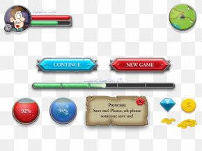 Game Buttons - Button Flat Design Game Graphical User Interface PNG