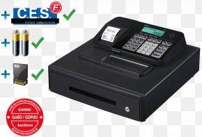 Cash Register - Cash Register Point Of Sale Casio Till Roll Sales PNG
