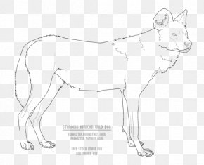 Wild Dog - Dog Breed African Wild Dog Line Art Drawing PNG