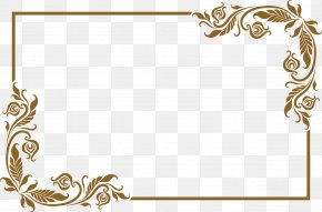 Lovely Old Golden Frame - Picture Frame PNG
