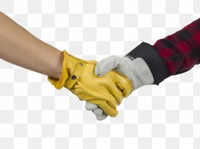 2 Men With Gloves And Handshakes - Handshake Glove Stock Photography PNG