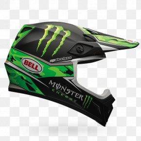 Motorcycle Helmets - Motorcycle Helmets Monster Energy Bell Sports Motocross PNG