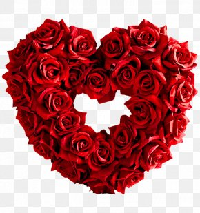 Rose Love - Garden Roses Heart Red Valentines Day PNG