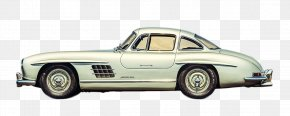 White Mercedes-Benz Classic Cars Side - Mercedes-Benz 300 SL Car Mercedes-Benz CLA-Class Automotive Design PNG