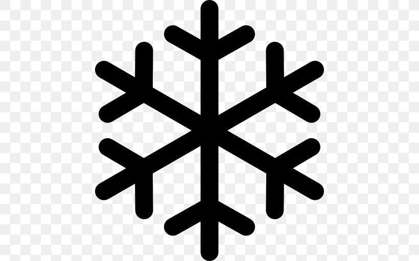 Snowflake Icon Design Clip Art, PNG, 512x512px, Snowflake, Black And White, Icon Design, Share Icon, Snow Download Free