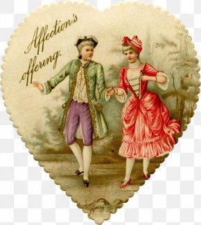 Valentine's Day - Victorian Era Valentine's Day Heart Cupid Love PNG
