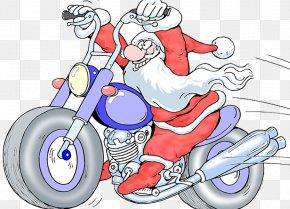 Santa Claus Electric Motorcycle Illustration - Santa Claus Motorcycle Rally Stock Photography Illustration PNG