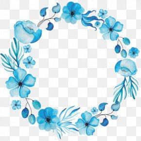 Flower - Wreath Floral Design Watercolor Painting Flower PNG