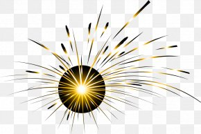 Dream Golden Halo - Light Fireworks Pyrotechnics PNG