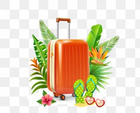 Suitcase - Summer Vacation Holiday Clip Art PNG