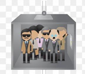 Elevator Business People Vector - Adobe Illustrator Illustration PNG