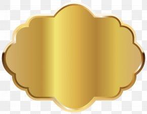 Gold - Gold Label Clip Art PNG