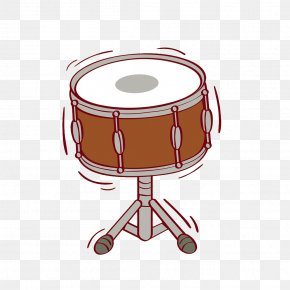 Hand-painted Drums - Drums Bass Drum Percussion Illustration PNG