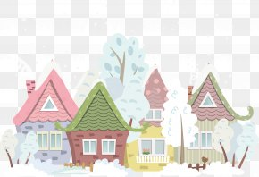 Vector Winter House - Royalty-free Photography Clip Art PNG
