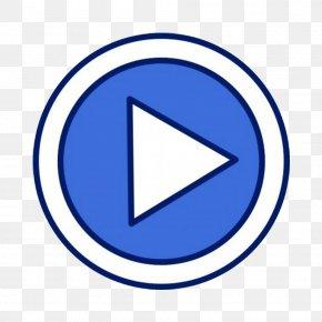 Simple Blue Play Button Design - Video Clip Art PNG