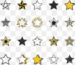 Vector Hand-painted Stars - Euclidean Vector Drawing Icon PNG