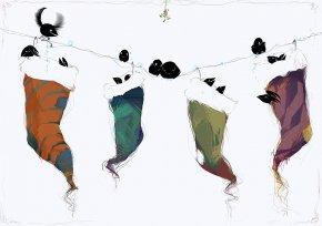 Stocking Art - Christmas Stockings Illustration PNG