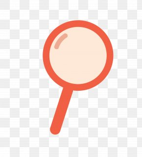 Vector Color Cartoon Magnifying Glass - Magnifying Glass Euclidean Vector PNG