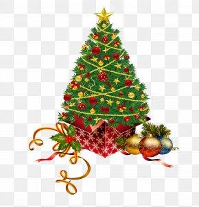 Christmas Tree - Christmas Gift Santa Claus Clip Art PNG