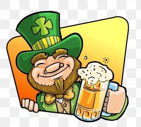 Cute Beer Cliparts - Beer Leprechaun Drink Saint Patricks Day Clip Art PNG