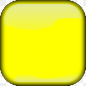 Yellow Square Cliparts - Yellow Button Square Clip Art PNG