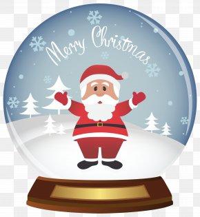 Christmas Santa Snowglobe Clipart Image - Snow Globe Santa Claus Christmas Clip Art PNG