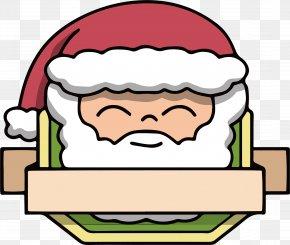 Santa Claus Title Box - Christmas Santa Claus Clip Art PNG