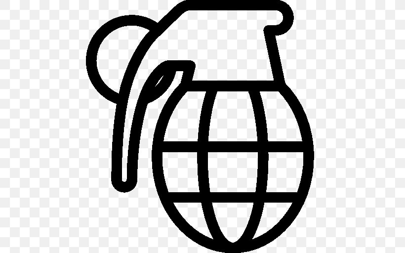Grenade Weapon, PNG, 512x512px, Grenade, Area, Black And White, Incendiary Device, Ios 7 Download Free