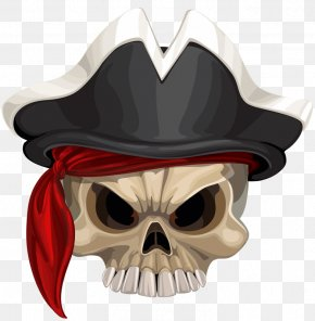 The Scary Skeleton - Piracy Designer Hat PNG