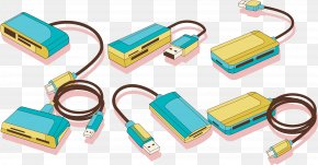 Blue USB - USB Mass Storage Device Class Card Reader PNG