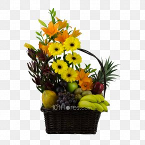 Flower - Floral Design Fruit Food Gift Baskets Cut Flowers PNG