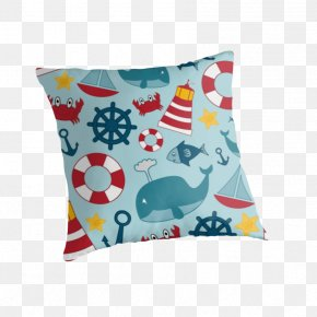 Nautical Theme - Throw Pillows Cushion Textile Material PNG