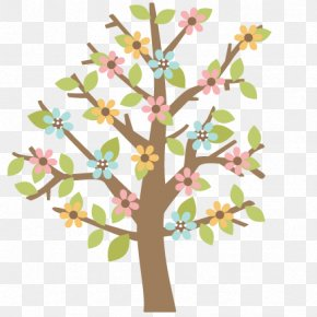 Spring Silhouette Cliparts - Tree Spring Clip Art PNG