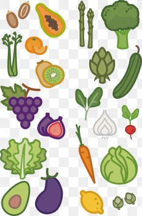 Fruits And Vegetables Cartoon Vector - Fruit Vegetable Cartoon Clip Art PNG