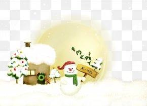 Winter Snowman - Royal Christmas Message Wish Greeting Christmas Card PNG