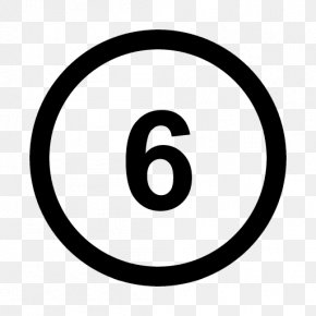 Number 6 - Circle Area Brand Logo Pattern PNG