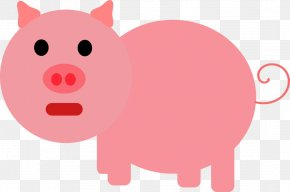 Pig In Mud Clipart - Domestic Pig Pillow Clip Art PNG