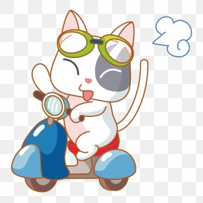 Cat Driving A Motorcycle - Euclidean Vector Stock Photography Illustration PNG