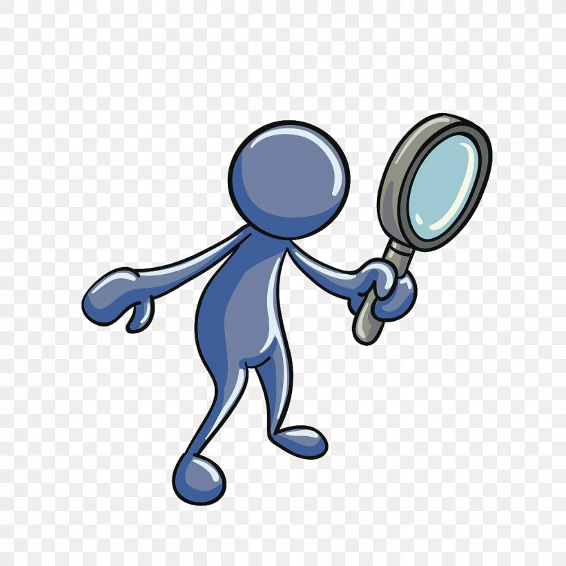 Magnifying Glass Euclidean Vector, PNG, 1200x1200px, 3d Computer Graphics, Magnifying Glass, Animation, Blue, Cartoon Download Free