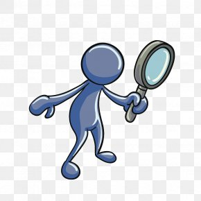 Man's Pattern With A Magnifying Glass - Magnifying Glass Euclidean Vector PNG