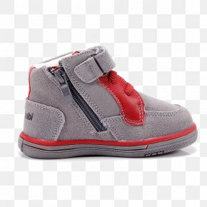 European Baby Gray Red Sports Shoes Dongkuan Zipper - Dress Shoe Red PNG