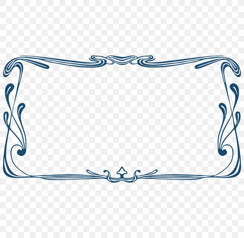 Borders And Frames Art Nouveau Picture Frame Clip Art, PNG, 800x800px, Borders And Frames, Area, Art, Art Deco, Art Nouveau Download Free