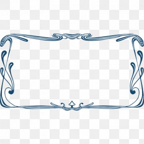 Art Nouveau Frame - Borders And Frames Art Nouveau Picture Frame Clip Art PNG