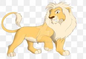 Golden Lion Standing - Lion Whiskers Dog Cat Roar PNG