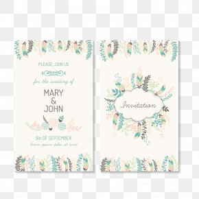 Elegant Plant Flowers Wedding Greeting Card Pictures - Wedding Invitation Marriage Greeting Card PNG