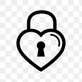 Heart-shaped Photo Wall - Lock Heart Key Drawing Clip Art PNG