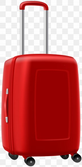 Trolley Suitcase Clipart Image - Suitcase Baggage Royalty-free Clip Art PNG
